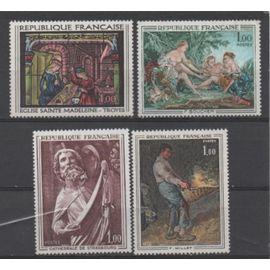 France: Lot de 4 timbres représentant des oeuvres d