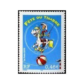 france 2003, très bel exemplaire yvert 3546, fête du timbre, lucky luke et jolly jumper, neuf** luxe