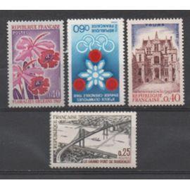 France 1967: Lot de 4 timbres N° 1520,1524,1525,1528.
