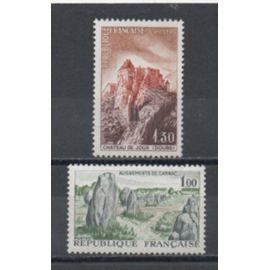 France 1965: Timbres  N°1440 et 1441 émis en 1965.