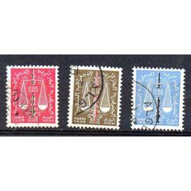 Algérie- 3 timbres taxe oblitérés- Balance