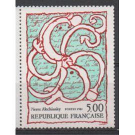 France 1985: Timbre N° 2382 représentant une oeuvre de Pierre Alechinsky.