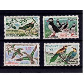 france 1960 oiseaux neufs sans charnières yt 1273 à 1276 (**)