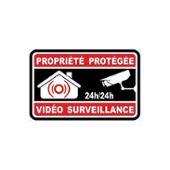 Autocollant Propriété Sous Vidéo Surveillance Alarme Logo N8 Sticker Taille 5x5 Cm