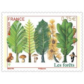 france 2011, très bel exemplaire neuf** luxe timbre europa n° 4551, les forets.