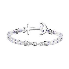 bracelet argent ancre marine