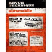 Renault 20 Diesel TD-GTD revue tech RTA 409