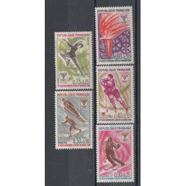 France 1967: Série de 5 timbres N° 1453 à 1457 émis pour les J.O. d