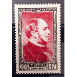 France - Célébrités XIXème Siècle - Baron Haussmann 30f+6f carmin (Impeccable n° 934) Neuf** Luxe - Cote 11,50€ - Année 1952 - N13005