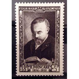 France - Célébrités XIXème Siècle - Jules-Henri Poincaré 18f+5f brun-violet (Impeccable n° 933) Neuf** Luxe - Cote 11,50€ - Année 1952 - N13004