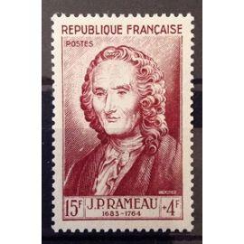 France - Célébrités XII au XXème Siècle - Jean-Philippe Rameau 15f+4f brun carminé (Impeccable n° 947) Neuf** Luxe - Cote 13,00€ - Année 1953 - N13024