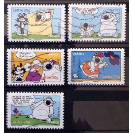France - Timbres de 2006 Obl - Cubitus - Tête de Cubitus sur Lettre ( n° 3953) + Une Dent de Plus ( n° 3955) + Youhou ( n° 3956) + Bonnet Phrygien ( n° 3958) + n° 3961 - Cote 4,00€ - N12949