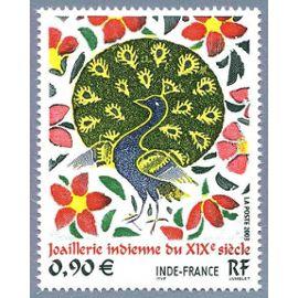 France 2003, très bel exemplaire yvert 3630, émission commune france inde, joaillerie indienne du XIXème siècle, neuf** luxe