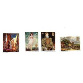 Grande-Bretagne- Lot de 4 timbres neufs- Peintures