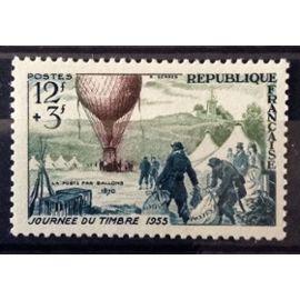 France - Journée Timbre 1955 - Ballon Poste 12f+3f (Impeccable n° 1018) Neuf** Luxe - Cote 6,00€ - N13142