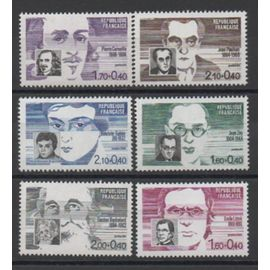 France: Série émise en 1984 sur des personnages célèbes, du N°2328 au N°2332, soit 6 timbres.
