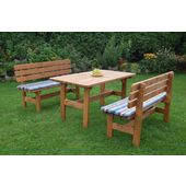 Ensemble De Jardin : 1 Table Et 2 Bancs \
