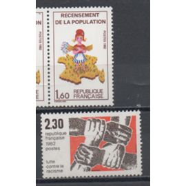 France; Lot de deux timbres de 1982, N° 2202 et 2204.