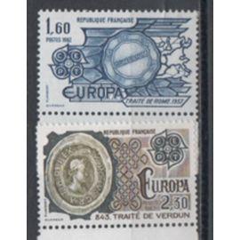 France 1982: Paire de timbres Europa N° 2207 et 2208.