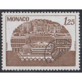 Timbre de monaco N°P.R.56 Y&T 1,25 f. brun centre de congrès