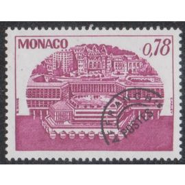 Timbre de monaco N°P.R.55 Y&T 78 c. lilas-rouge centre de congrès