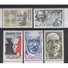 France 1981: Série de 6 timbres sur les personnages célèbres, du N° 2148 au N° 2153