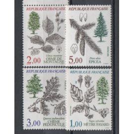 France 1985:Série sur la faune et la flore de France, 4 timbres N° 2384,2385,2386 et 2387..