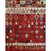 Marokko Tapis De Salon Rouge Et Beige 120x170 Cm