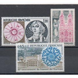 France 1974: Lot de 3 timbres N° 1792 et 1810,1818.
