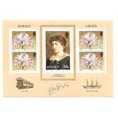 compl/ète.Edition. plante gb Timbres pour les collectionneurs Jersey Bloc 4 1986 lis
