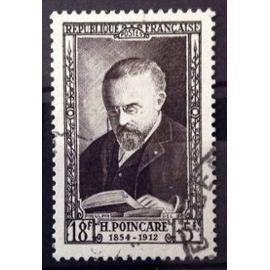 France - Célébrités XIXème Siècle - Jules-Henri Poincaré 18f+5f brun-violet (Magnifique n° 933) Obl - Cote 11,50€ - Année 1952 - N14091