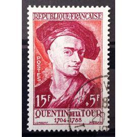 France - Célébrités XIII au XIX - Quentin de la Tour (Splendide n° 1110) Obl - Cote 4,50€ - Année 1957 - N14069