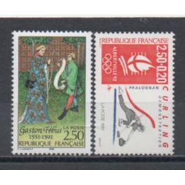 France 1991: Lot de timbres commémoratifs neufs  N° 2680 et 2708