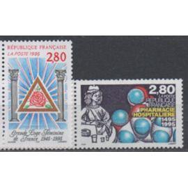 France 1995: Suite de 2 timbres neufs N° 2967 et 2968.
