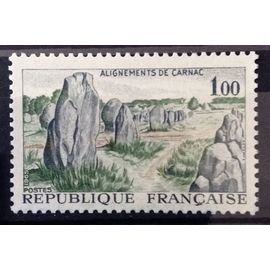 France - Alignements de Carnac 1,00 (Impeccable n° 1440) Neuf** Luxe - Année 1965 - N14397