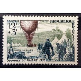 France - Journée Timbre 1955 - Ballon Poste 12f+3f (Impeccable n° 1018) Neuf** Luxe - Cote 6,00€ - N14394