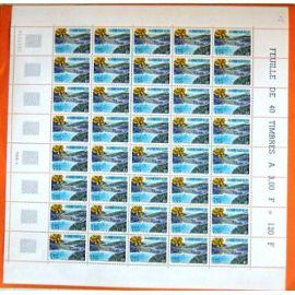 FRANCE 2000 FEUILLE COMPLETE GERARDMER VALLEE DES LACS VOSGES YT 3311 **
