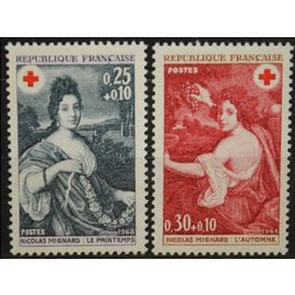 TIMBRES NEUFS - YT 1580 + 1581 - CROIX ROUGE