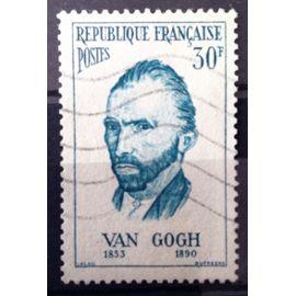 France - Personnages Etrangers - Vincent Van Gogh 30f (Superbe n° 1087) Obl - Cote 3,60€ - Année 1956 - N11812