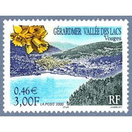france 2000, très bel exemplaire neuf** luxe yvert 3311, gérardmer et la vallée des lacs, vosges.