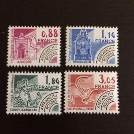 France Préoblitérés 1980 YT nº 170 à 173 Neufs (xx) Monuments historiques Superbes