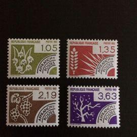 France Préoblitérés 1983 YT nº 178 à 181 Neufs (xx) Les quatre saisons Superbes