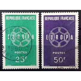 France - Série Europa 1959 - Chaînes - n° 1218-1219 Obl - N14245
