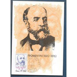 FRANCE CARTE MAX PREMIER JOUR FDC timbre n° 1897 Eugène fromentin / la rochelle 25 / 09 /1976
