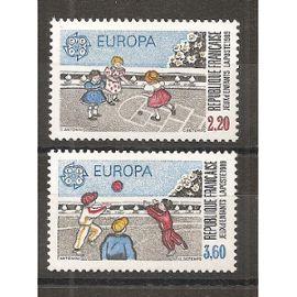 2584 - 2585 (1989) Série Europa N** (cote 5e) (5235)