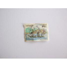 timbre taxe monaco oblitéré . le charles 3