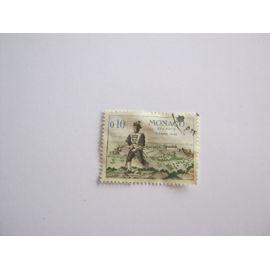timbre taxe monaco oblitéré 0.20 . 18e s.