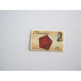 timbre mauritius oblitéré 10 cents . starfish bonnet de prêtre