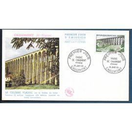 france enveloppe fdc premier jour timbre n° 1240 VIADUC DE CHAUMONT   /CHAUMONT 16 / 01 / 1960