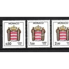 TIMBRES NEUFS - MONACO  - TAXE - YT 83 A 86 - ECUSSON STYLISE